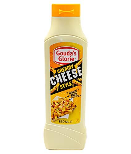 Gouda's Glorie Creamy Cheese Style Käsesauce - 3x 850ml - vegane Käsesoße für Nachos Burger Enchiladas Tacos Burritos cremig-zartschmelzend warm und kalt genießbar
