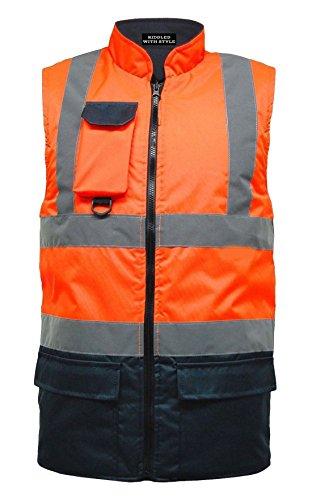 RIDDLEDWITHSTYLE Hi VIS Viz Body Warmer Mens Zichtbaarheid Licht Gewicht Water Proof Gilet Waistcoat