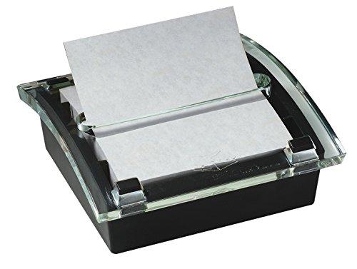 Post-It - Dispensador de notas para notas de 7,6 x 7,6 cm, dispensador negro, 50 hojas