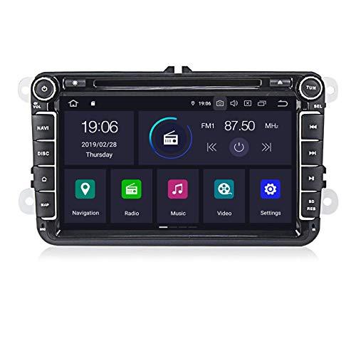 MekedeTech - Autoradio Android 9, schermo da 8 pollici per VW Radio con navigatore, supporta Bluetooth, DAB + CD DVD Android Auto WiFi 4G 2 DIN