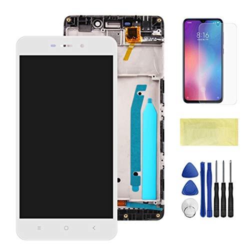 Schermi LCD per telefoni cellulari 5.0 '' LCD Touch Screen Digitizer Sostituzione/Fit per Xiaomi Redmi 4 Prime 4Pro Schermo LCD (Color : White with Frame)