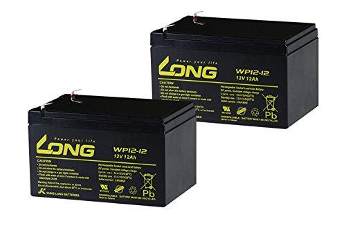 シールド式 LONGバッテリー12V12Ah UPS用バッテリー WP12-12 2個セット 高性能シールド型