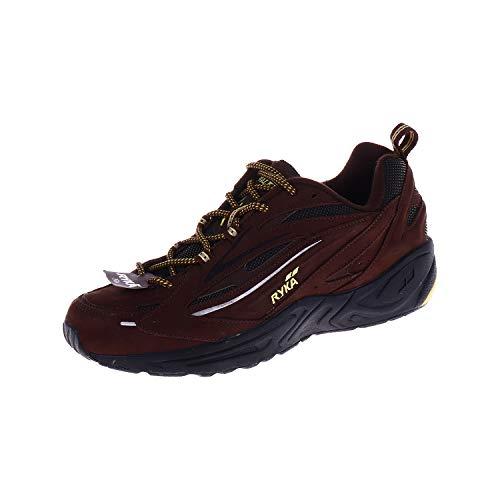 RYKÄ heren schoenen wandelschoenen outdoorschoen trekkingschoen chocolade geel zwart bruin K02478WEYB