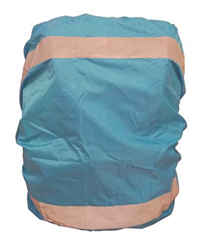 EANAGO Premium Regenschutz/Regenüberzug für Schulranzen, Rucksack, Fahrradtaschen. 100% wasserdicht (Blau)