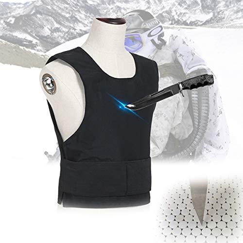 TBDLG Stichschutzweste, Weiche Unsichtbare Weste, Zum Schutz Von Brust Und Rücken, Schnittschutzausrüstung Für Polizei, Sicherheit,XL
