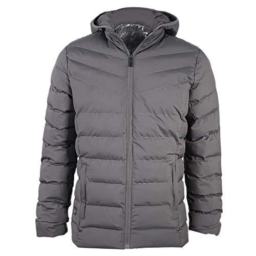 Alomejor verwarming mantel 5V USB elektrische verwarming jas mannen grijs voor winter motorfiets fietsen lopen skiën