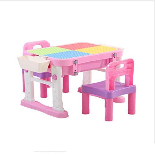 LABULA Kids Mehrzweck-Aktivitätsset, Kreativ-Spieltisch, Zum Bauen Und Spielen Mit 2 Stühle Sitzgruppe Faltbar Und Leicht Zu Tragen, Für...