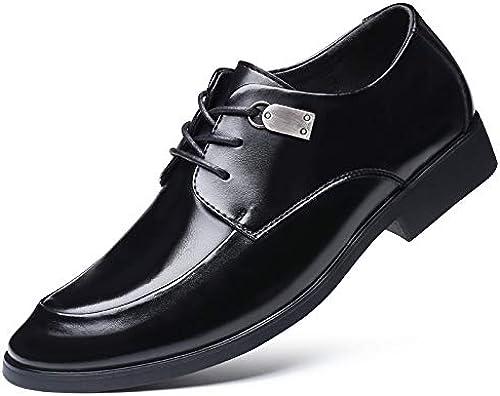 LOVDRAM Chaussures Hommes Chaussures De Travail Hommes Robe en Cuir Cuir Brillant Chaussures De Marque noir en Cuir Cuir Pointu Chaussures Hommes  meilleur prix