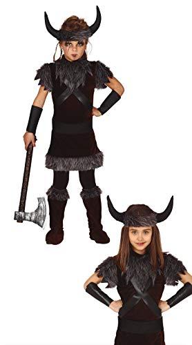 FIESTAS GUIRCA Disfraz Guerrero Vikingo Infantil niña Talla 3-4 años