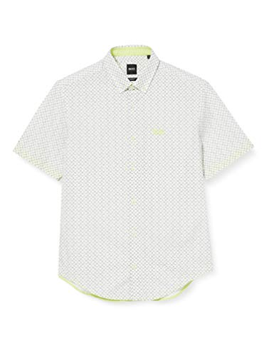 BOSS Biadia_r Camisa, Verde (Light/Pastel Green 337), XXX-Large para Hombre
