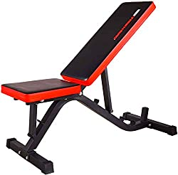 TrainHard® weight bench Drückerbank Variable incline bench Negative / flat, tested and certified according to DIN EN 957