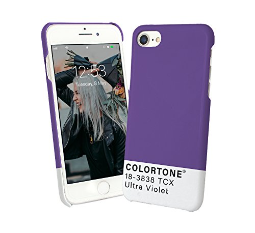 Colortone Pantone Purple Arty Ultra Violet Phone Mobile Smartphone Case Cover Compatible With For Iphone 8 Plus Iphone 8s Plus Funny Gift Christmas