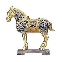 彫像中空馬の装飾ラッキーリビングルームワインキャビネットディスプレイオフィスクラフト