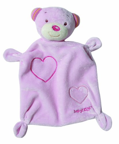 Fehn Rainbow Teddy Doudou (Rose)