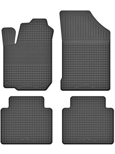 KO-RUBBERMAT Gummimatten Fußmatten 1.5 cm Rand geeignet zur Renault CLIO II (Bj. 1998-2005) ideal angepasst 4 -Teile EIN Set