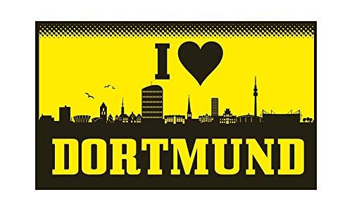 Dortmund - I Love Dortmund Fahne (F73) - 90x150cm