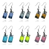 New Pearl Milk Tea Fruit Creative Personality Drop Earrings Fun Ear Hoop Small Earrings For Women Female (6 colors)