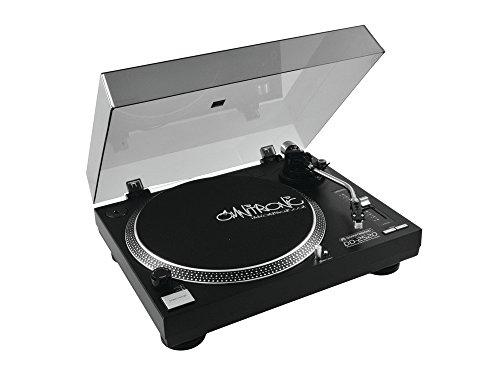 OMNITRONIC DD-2520schwarz–Plattenspieler (12W, 115/230, 50/60Hz, schwarz, 11kg, 450x 350x 155mm)