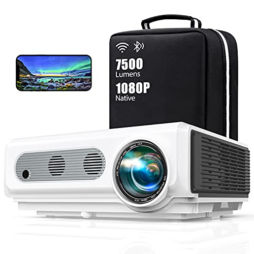WiFi Bluetooth Projector,TOPTRO Native 1080P Full HD Video Projector 7500...