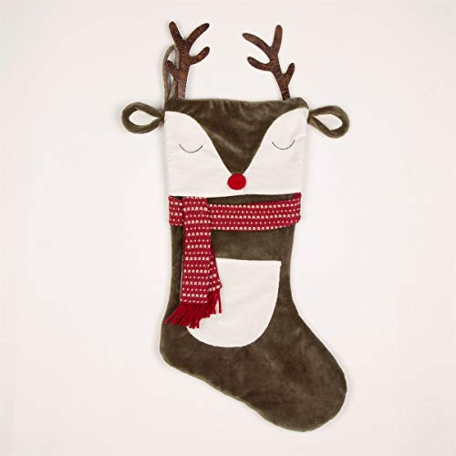 Sass & Belle Reindeer with Antlers Christmas Stocking