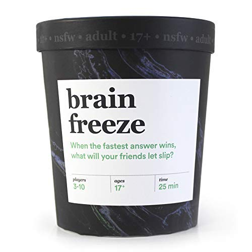 Brain Freeze Adult Card Game: The SpeakBeforeYouThink Party Game  NSFW Edition