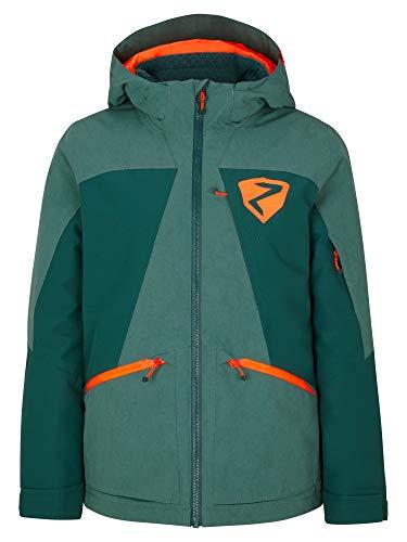Ziener Jungen ASTARO Junior Kinder Skijacke, Winterjacke | Wasserdicht, Winddicht, Warm, Spruce Green Washed, 104