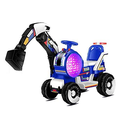 GAO-bo Excavadora Eléctrica para Niños Luz De Música 2.4G Control Remoto Bluetooth Doble Fuerza De Conducción para Aumentar El Asiento Cómodo, Puede Montar En La Excavadora Excavadora Eléctrica