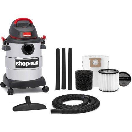 Shop-VAC, 6 Gallon 4.5 Peak HP Stainless Steel Wet/Dry VAC