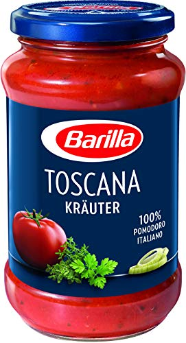 Barilla Pastasauce Toscana Kräuter – Italienische Sauce 1 Glas (1x400g)