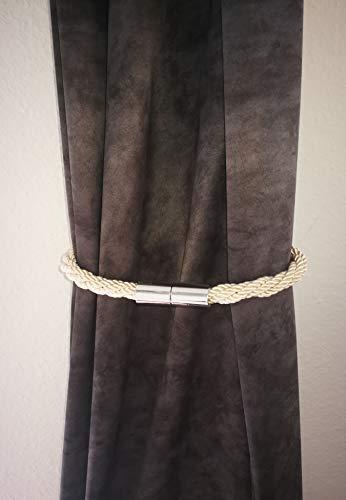 ORIENT & OCCIDENT Magnetische Raffhalter, Magnetische Vorhang Clips Starke Magnetische Seil-Vorhang-Halter Gardinen (BEIGE)