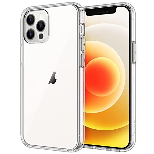 JETech Hülle Kompatibel iPhone 6,1 Zoll (12/12 Pro), Stoßfeste Stoßstange Handyhülle, Anti-Kratzt Klar Rückseite, HD Klar
