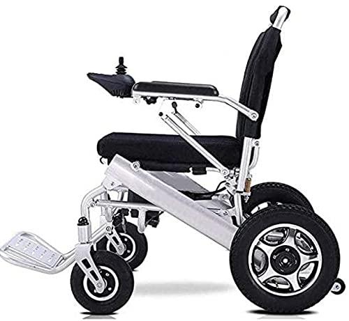 Silla de ruedas eléctrica de lujo, motorizada plegable, plegable, ligera, plegable, para personas mayores y discapacitadas