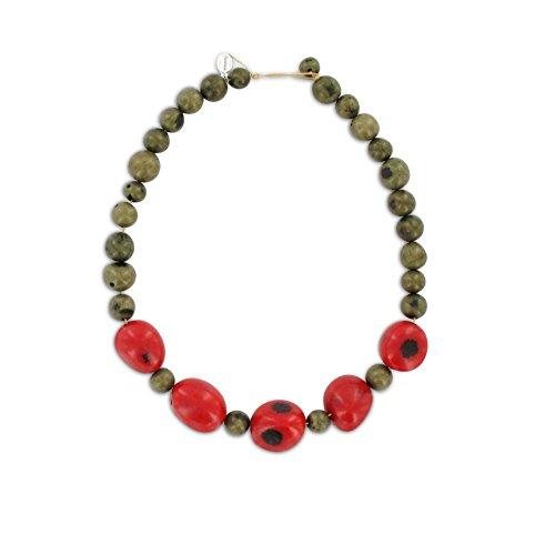 Halskette aus Paxiubao und Jarina Samen, original Sambaia, Original aus Brasilien Amazonas, Natur Material!
