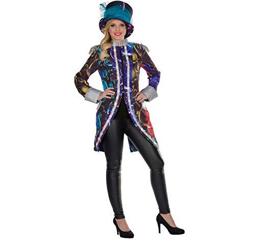 Unbekannt Disfraz de mujer LED con sombrero, pompas de jabn con purpurina, sombrero de carnaval (38)
