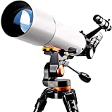 Scizor 500x80mm Telescope, Mount Astronomical Refracting Telescope for Kids Beginners - Travel Telescope with Carry Bag, Adult Telescopes