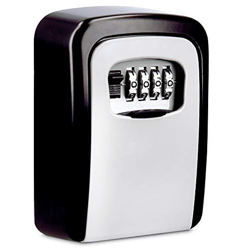Navaris Caja para llaves con clave - Armario de seguridad para llave de apartamento de alquiler con código y montaje en la pared de 12 x 8.5 x 4 CM