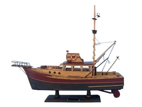 "Hampton Nautical ""Jaws"" Orca Model Fishing Boat - Fully Assembled (Not a Kit)"
