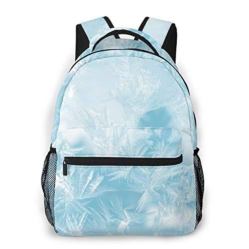 Yuanmeiju Fashion Unisex Mochila Frozen Icy Background Bookbag Lightweight Laptop Bag for School Travel Outdoor Camping