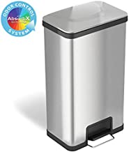iTouchless Airstep 18 Gallon Step Pedal Trash Can with AbsorbX Odor Control System, 68 Liter Extra Capacity Stainless Steel Commercial Grade Garage Bin for Home and Office Kitchen