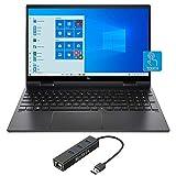 HP Envy x360 2-in-1 Touchscreen Laptop, 15.6' IPS FHD, Ryzen 5-4500U 6-Core up to 4.00 GHz, 8GB RAM, 1TB SSD, USB-C/DP, HDMI 2.0, Backlit KB, Webcam, Mytrix Ethernet Hub, Win 10