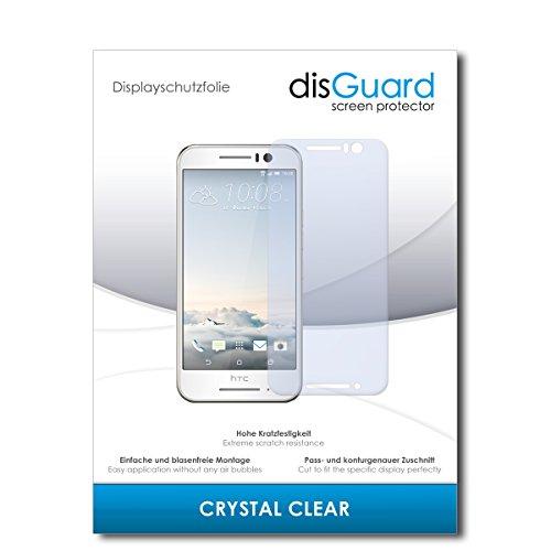 disGuard Bildschirmschutzfolie für HTC One S9 [2 Stück] Crystal Clear, Kristall-klar, Unsichtbar, Extrem Kratzfest - Bildschirmschutz, Schutzfolie, Glasfolie, Panzerfolie