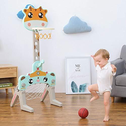 Fall Basketballkorb fürs Zimmer, Tragbares 3-in-1-Kinder-Basketball-Set, 100-140 cm, höhenverstellbar, für den Garten im Innen- und Außenbereich