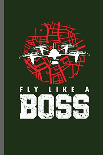 Fly like a Boss: Fly high Playing Drones Ground Base Controller UAV Aircraft Quadcopter Aerial Vehicle Pilot Control Gadget Camera Video notebooks gift (6