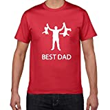 Best Dad Streetwear Tshirt Men Funny Design Father Day 100% Cotton Summer Hip Hop Gift Home Clothes 2021