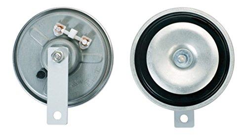 HELLA 3BB 002 768-661 Avertisseur sonore - B36 - 12V - 116dB(A) - Plage de fréquences: 335Hz/400Hz - Couleur du carter: gris - Raccord plat - Quantité: 2 - Kit