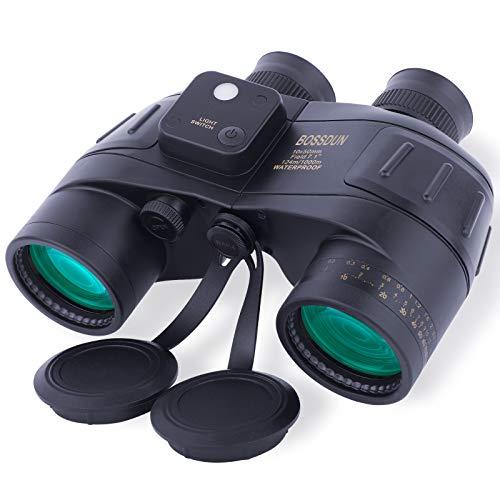 10 x 50 prismáticos militares antivaho impermeables con telémetro interno y brújula, para adultos, navegación, pesca, observación de aves, caza