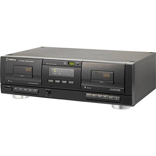 Tape Deck Renkforce TP-1010USB Schwarz Doppel-Kassettendeck, USB zum Digitalisieren