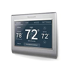 Compatible with: Amazon Alexa, SmartThings, Google Home, IFTTT Check to see If your new thermostat qualifies for a utility rebate; Auto-updates for daylight savings; adjusts for 12/24-hour and multi-language needs Customizable touchscreen in full Col...