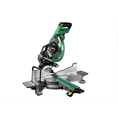 Metabo HPT 10-Inch Sliding Miter Saw | Zero Rear Clearance Slide System | Dual Bevel | Laser Marker | C10FSHCT