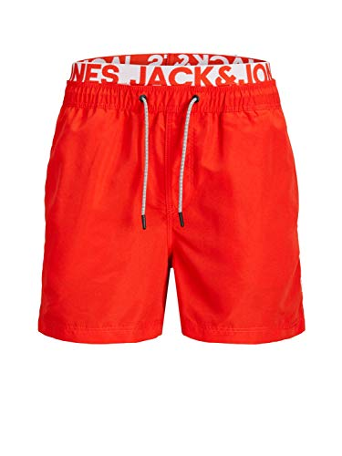 JACK & JONES Aruba Swim Shorts Herren Badehose, Farbe:Fiery Red (ohne Logo), Größe:XS